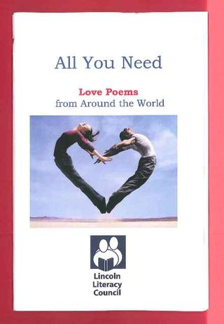 love poems book. to the ook, titled, quot;All You Need: Love Poems from Around the World.quot;