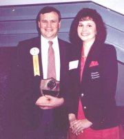 "Roger and Janice Moore after Roger was named ""Restaurateur of the Year"" in 1992, Photo courtesy of www.amigoskings.com"